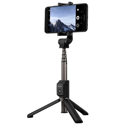 2 in 1 Selfie Stick With Tripod - Black