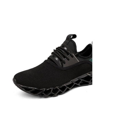 Breathable Athletic Shoes - Black Mesh / 6.5