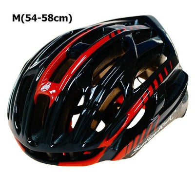 Ultralight Bicycle Helmet - Black Red