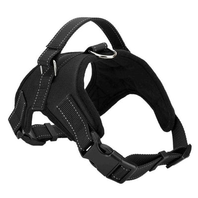 Adjustable Dog Vest Harness - Black / S