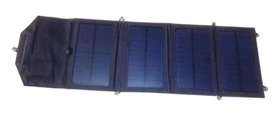 8W Portable Solar Panel Charger - Black