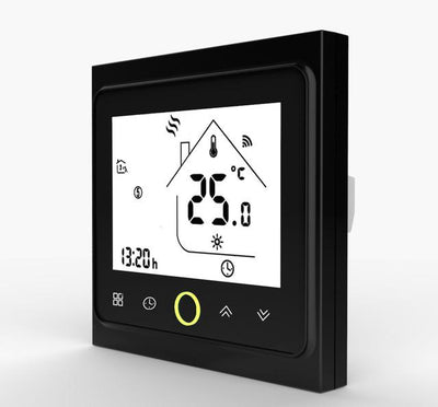 Smart Wifi Thermostat - Black