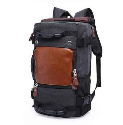 Vintage Traveler Backpack - Black