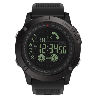 Durable Smart Watch for iOS/ Android - Black