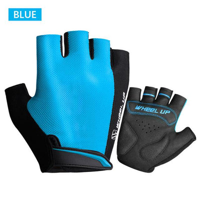 Shockproof Half-Finger Cycling Gloves - Blue / S