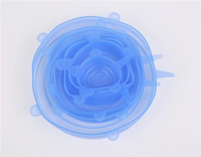 Stretch & Fit - Silicone Stretch Lids (6pcs) - Blue