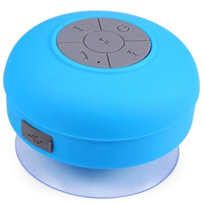 Waterproof Bluetooth Shower Speaker - Blue