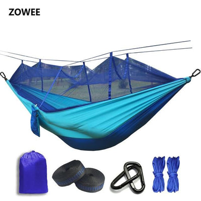 Outdoor Hammock Tent - Blue and Light blue