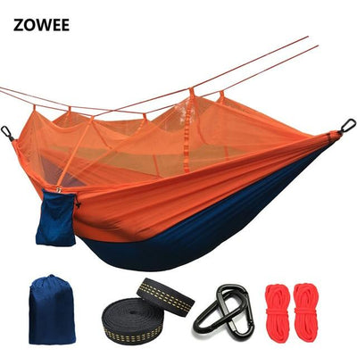 Outdoor Hammock Tent - Blue and Orange