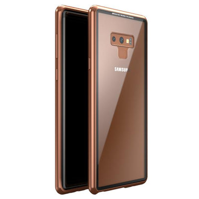Magnetic Tempered Glass Case - Clear Brown / For S8