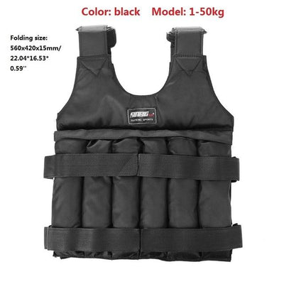 Weighted Adjustable Workout Running Vest -