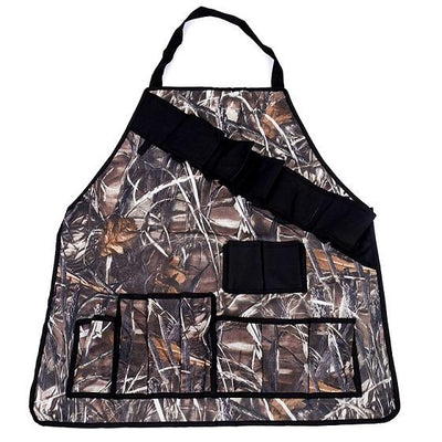 BBQ Grill Apron With Tool Pockets - Brown