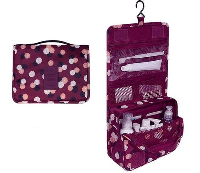 Hanging Washing Bags - Burgundy flower