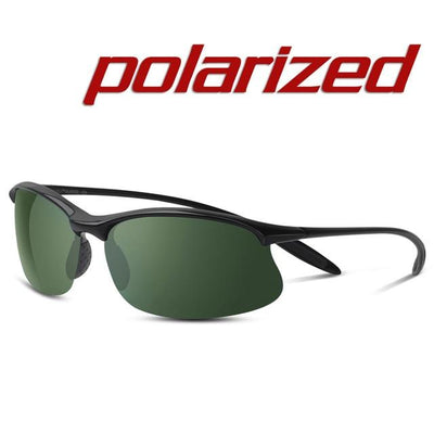 Polarized Sports Sunglasses - Black Green