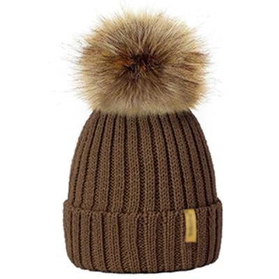 Winter Fur Pom-Pom Hat - Champagne