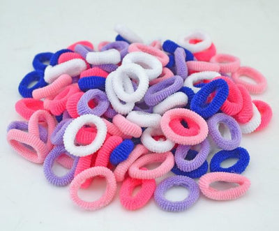 Cute Rubber Hair Band Set(100Pcs) - Colorful 2