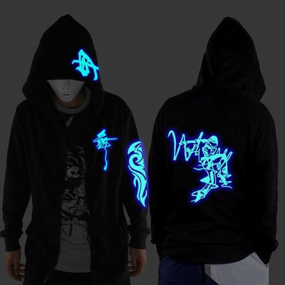 Blue Rave Ghost Hoodie - Dancer / XXS