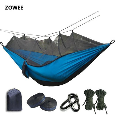 Outdoor Hammock Tent - Dark Grey and Blue