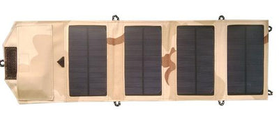 8W Portable Solar Panel Charger - Desert Camouflage