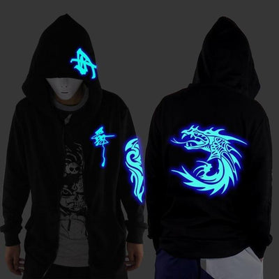 Blue Rave Ghost Hoodie - Faucet / XXS