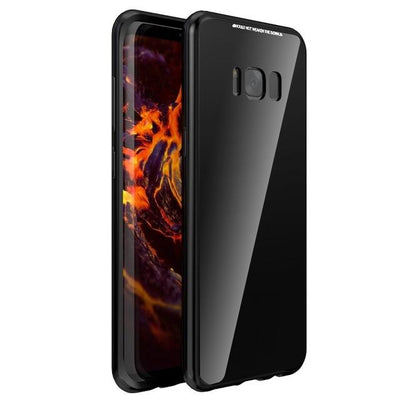 Magnetic Tempered Glass Case - Full Black / For S8