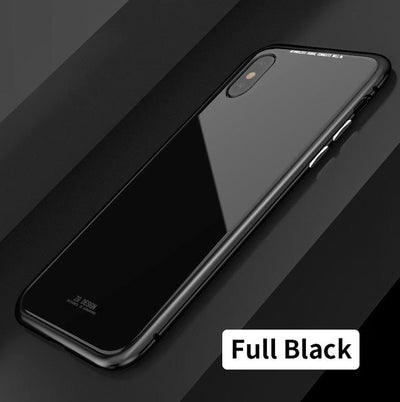 Durable Magnetic Flip Case - iPhone X / Full Black
