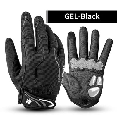 Shockproof Touch Screen Cycling Gloves - GEL Black / M