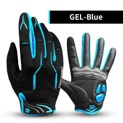 Shockproof Touch Screen Cycling Gloves - GEL Blue / M