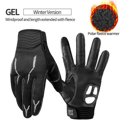 Shockproof Touch Screen Cycling Gloves - GEL Winter Black / M