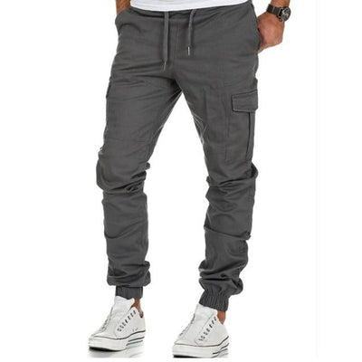 Multi Pocket Jogger Pants - GRAY / M