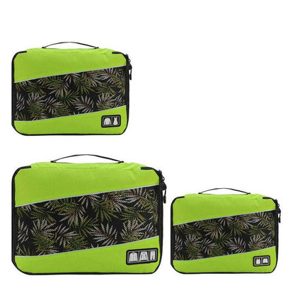 Professional Cube Packing Bags - Green