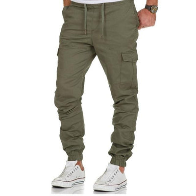 Multi Pocket Jogger Pants - GREEN / M