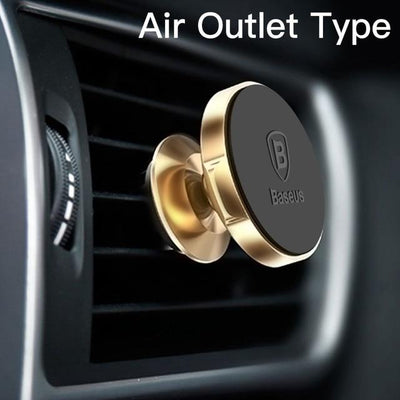 Magnetic Car Mount Phone Holder - Gold Air Vent