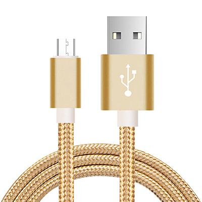 Fast Charging Micro-USB Cable - 1m / Gold