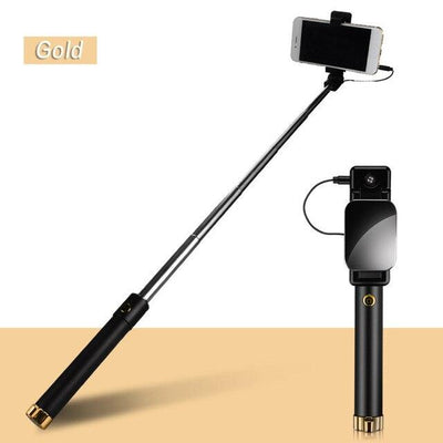 270 Smart Rotation Selfie Stick - Gold
