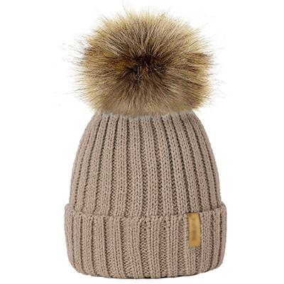 Winter Fur Pom-Pom Hat - Gold