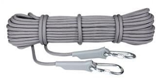 Professional Rock Climbing Rope - Gray / 10 meter
