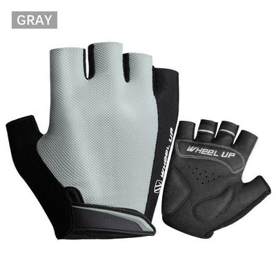 Shockproof Half-Finger Cycling Gloves - Gray / S