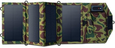 8W Portable Solar Panel Charger - Green Camouflage