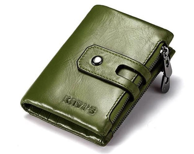 Mens genuine leather wallet - Green