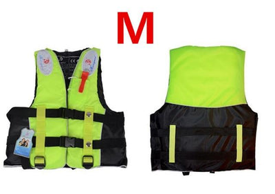 Inflatable Vest Life Jacket - Green / M