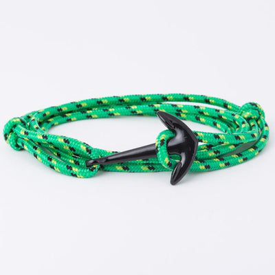 Fashionable Anchor Charm Bracelet - Green