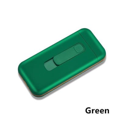 Cigarette Case With Lighter - Green