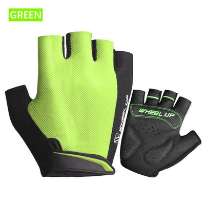Shockproof Half-Finger Cycling Gloves - Green / S