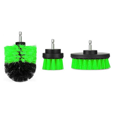 Power Scrubber Brush (1 Set) - Green