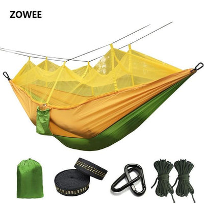 Outdoor Hammock Tent - Green and Yellow