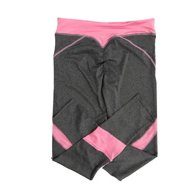 Breathable Fitness Leggings - Grey Pink / S