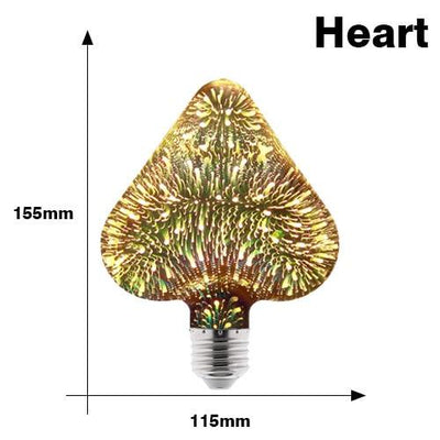 3D Decoration Firework Bulb - Heart