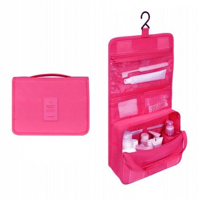 Hanging Washing Bags - Hot pink