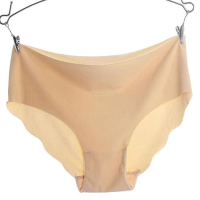 Invisible Seamless Panties - Khaki / M